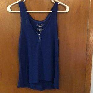 Blue button tank